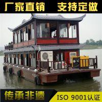 吉林 沈阳木船厂直销画舫船 水上餐饮船 旅游观光船 客船出售