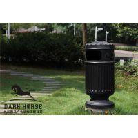 铸铝欧式中高档垃圾桶方贸园林设施定做工程(F-3002)