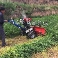 多功能小型割晒机 艾草收割机 水稻收割机视频