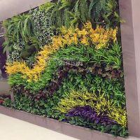 绿琴工厂批发植物墙 仿真绿植墙 人造植物墙草坪 假花假树叶 不发霉 客厅阳台装饰 绢花背景软装