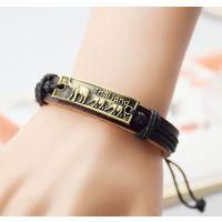 义乌饰品厂家真皮手链批发 泰国大象麻绳手链 男女手链bracelet各种款式