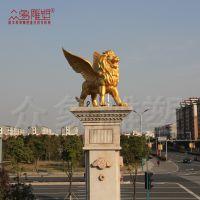 众象大型铸铜狮子雕塑