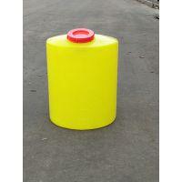 山东潍坊直销PE塑料容器 聚乙烯滚塑塑料桶 40L/升黄色圆形加药箱/酸碱化工桶