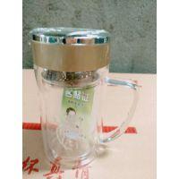 青岛双层杯厂家山东鑫泉玻璃杯业定制中心_品牌工厂根据客户要求订制13176882585