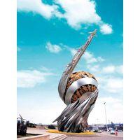 城市镜面不锈钢建筑景观雕塑-灯饰夜景雕塑-户外景观工程厂家