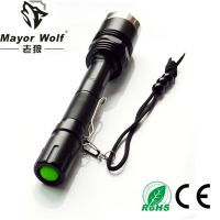 厂家批发 大功率强光手电筒 led充电手电筒 户外照明打猎防身用品