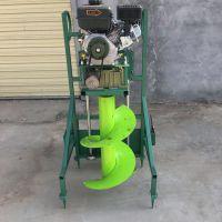 保山市拖拉机带植树打坑机 双人操作钻穴机 启航果园施肥挖窝机价格