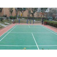 操场硅PU塑胶羽毛球场多少钱一平方米问绿昂