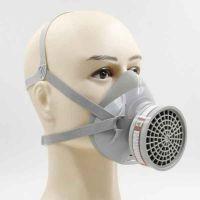 一护硅胶材质半面型单滤盒防护防毒面具