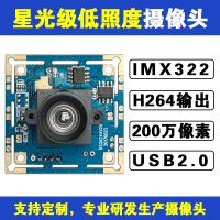 IMX322星光级低照度200万高清USB摄像头模组H.264输出1080P 30帧