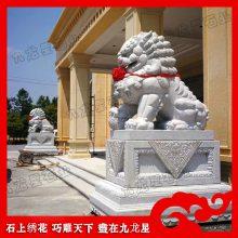 章丘黑石狮子荔枝面石雕狮子 福建漳州芝麻黑石材