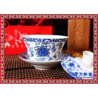 景德镇手绘陶瓷盖碗茶具 景德镇青花大号泡茶器敬沏花茶
