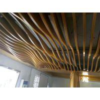 商场拉弯铝方通实力供应商,商场木纹铝方通吊顶艺术。