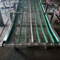 强盛不锈钢网带提升输送机 网带式提升输送机流水线 欢迎制作