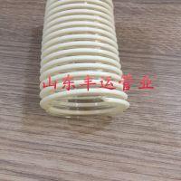 丰运厂家直销直径25PU抗静电塑筋管粉尘碎料吸排输送软管透明塑筋加强管抗磨耐老化