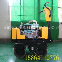 厂家直供全液压600型双轮压路机 沥青路面振动压实机