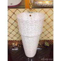 出口工程特价分体式陶瓷配套彩色大尺寸立柱盆