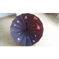 供应[厂家直供]热转移满版印花16骨广告伞直杆伞 高档遮阳伞