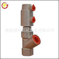 供应不锈钢气动角座阀 DN15-27立式放料角座阀 灌装阀