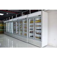 肯德展示柜冷藏立式冰柜 商用冰箱饮料饮品保鲜柜 多门冷柜陈列柜