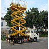 启运 车载升降平台8米电动升降台高空作业车 车载剪叉升降机直销