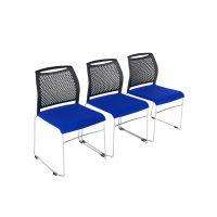 麦德嘉供应简约带连接扣培训椅 可拼接会议塑钢椅 银行接待椅