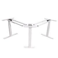 厂家直销L型电动升降桌自动升降金属台架L型职员智能升降办公电脑桌架欢迎咨询