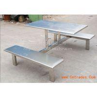 不锈钢食堂餐桌椅图片*不锈钢食堂餐桌*不锈钢连体餐桌椅-不锈钢餐桌椅子*学校4人食堂餐桌椅