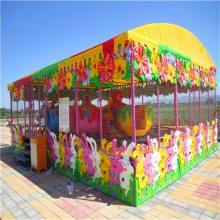 五颜六色的儿童游乐设施喷球车pqc经典款三星厂家制造