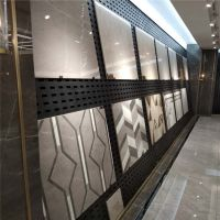强力推荐瓷砖展厅货架装饰 冲孔板展具 济南展厅展架钩槽配件