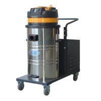 上海室外吸树叶灰尘用无线式工业吸尘器依晨小型手推式电瓶吸尘设备