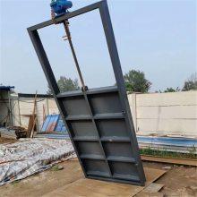 成品钢制机闸一体式闸门1.5米*1.5米成套手盘式启闭机
