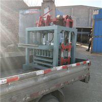 厂家供应4-35小型支撑垫块机 锐泰半自动水泥砖机 小型液压支撑条设备