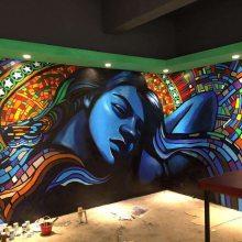 江西宜春 丰城 南昌 樟树 抚州 赣州 上饶 九江酒店宾馆壁画彩绘手绘