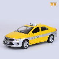盒装建元32015-1仿真合金丰田凯美瑞出租车的士儿童声光玩具车