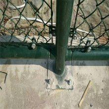 绿色球场围栏 铁丝活络网 桥梁两侧隔离网