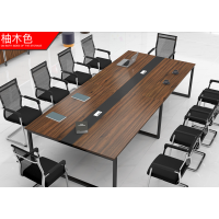 办公家具会议桌长桌简约现代小型板式培训桌长方形办公桌椅长条桌 颜色多选 质保五年 环保板材
