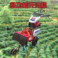 手扶拖拉机起垄机 深度可调果园施肥开沟机 启航多功能培土松土一体机厂家
