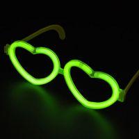 星奇厂家直销一次性塑料儿童节玩具荧光棒发光心型眼镜生日聚会求婚地摊热卖亲子交流互动玩具饰品