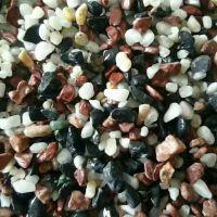博淼低价批发白色洗米石水洗石黑黄红五彩石胶粘石园林景观