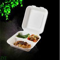 锁盒 一次性饭盒 餐具可降解堆肥