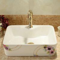 洗手盆陶瓷卫生间高档洁具台上彩色洗脸盆