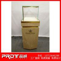 深圳Gold Elite手机柜台厂家设计 定做高档不锈钢及木质黄金手机展示柜