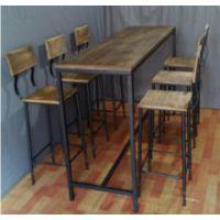 新款美式乡村实木吧台 休闲场所复古吧台桌可定制