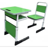 麦德嘉供应现代MDJ-MZ02学生课桌椅 板式环保带挡板双人升降学习桌椅