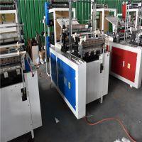 厂家直销600型双层热封冷切平口袋薄膜制袋机