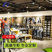 广州锐力 km男装展柜品牌形象策划品牌男装展示架