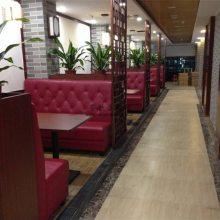 广州酒楼饭店餐桌椅卡座沙发定做,广州现代中式饭店家具制造商