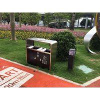 湖南长沙240L塑料垃圾桶 ZXT44-01不锈钢垃圾桶【振兴景观户外环卫】提供
