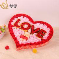 情人节表白创意100朵LOVE小熊玫瑰香皂花礼盒送女友礼物创意礼品